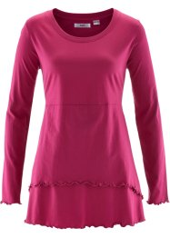 T-shirt long, manches longues, bpc bonprix collection, rouge baie
