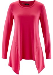 Sweat-shirt finition base en pointes manches longues, bpc bonprix collection, rose hibiscus