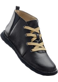 Bottines en cuir, bpc selection, noir