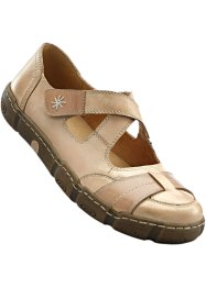 Ballerines en cuir confortables, bpc selection, beige