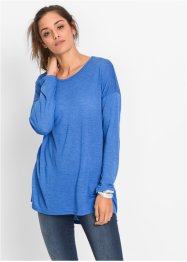 T-shirt long effet chiné, RAINBOW, bleu multi