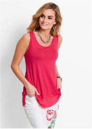 Top avec mousseline, bpc selection, rose hibiscus
