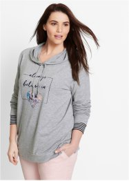 Sweat-shirt, bpc bonprix collection, gris clair chiné