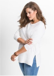 Sweat-shirt long avec fentes, John Baner JEANSWEAR