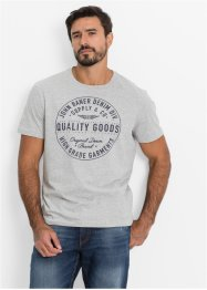 T-shirt Regular Fit, John Baner JEANSWEAR, gris clair chiné imprimé
