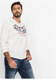 T-shirt manches longues encolure en V Regular Fit, John Baner JEANSWEAR