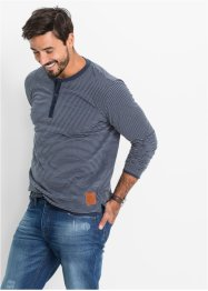 T-shirt manches longues à rayures Regular Fit, John Baner JEANSWEAR