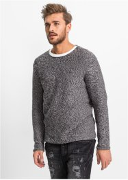Pull Slim Fit, RAINBOW, gris chiné