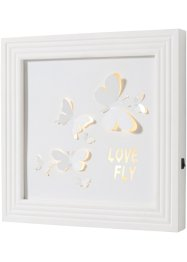Tableau à LED Papillons, bpc living, blanc