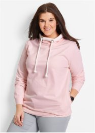 Sweat-shirt à dentelle, bpc bonprix collection, rose nacre