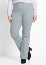 Pantalon extensible Bootcut, bpc bonprix collection, gris argent