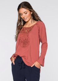 Blouse-tunique, BODYFLIRT, marron marsala