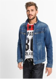 Veste en jean extensible Regular Fit, RAINBOW, bleu used