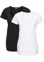 Lot de 2 T-shirts fonctionnels à manches courtes, bpc bonprix collection