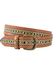 Ceinture avec galon ethnique, bpc bonprix collection, marron