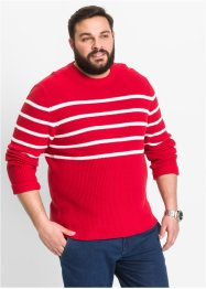 Pull rayé Regular Fit, bpc selection, rouge/blanc rayé