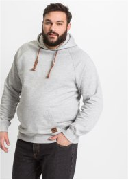 Sweat-shirt à capuche Regular Fit, John Baner JEANSWEAR, gris clair chiné