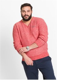 Pull col en V Regular Fit, bpc selection, saumon
