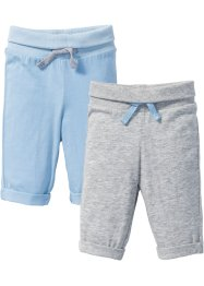 Lot de 2 pantalons bébé en jersey coton bio, bpc bonprix collection