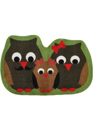 Tapis de protection Hibou, bpc living, marron