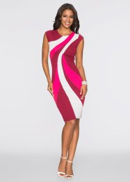 Robe multicolore, BODYFLIRT boutique, noir/blanc/rouge