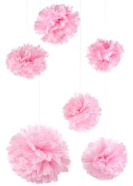 Set de pompons (Ens. 6 pces.), bpc living, rose