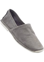 Slippers en cuir, bpc bonprix collection, gris clair