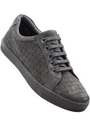 Tennis en cuir, bpc bonprix collection, anthracite