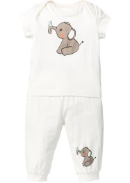 T-shirt bébé + pantalon (Ens. 2 pces.) en coton bio, bpc bonprix collection