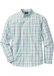 Chemise à carreaux Regular Fit, bpc selection, vert/bleu à carreaux