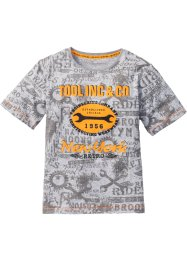 T-shirt, bpc bonprix collection, gris clair chiné