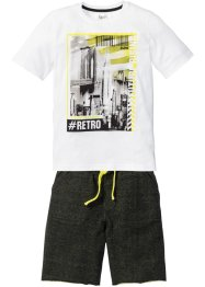 T-shirt + bermuda sweat (Ens. 2 pces.), bpc bonprix collection