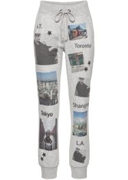 Pantalon de jogging avec imprimé photo, RAINBOW