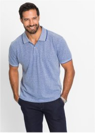 Polo à motif minimaliste Regular Fit, bpc selection, bleu nuit à pois