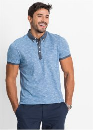 Polo Regular Fit, bpc bonprix collection, bleu/blanc chiné