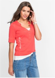 T-shirt style 2en1 manches 1/2, John Baner JEANSWEAR, capucine