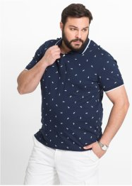 Polo Regular Fit, bpc selection, bleu foncé imprimé