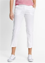 Pantalon cargo 7/8, bpc bonprix collection, blanc