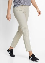 Pantalon extensible 7/8 avec franges, bpc bonprix collection, beige galet