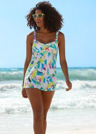Haut de tankini long, bpc bonprix collection, blanc imprimé