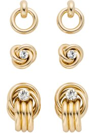 Lot de boucles d'oreilles (Ens. 6 pces.), bpc bonprix collection