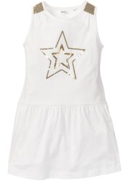 Robe avec application de paillettes, bpc bonprix collection, blanc cassé