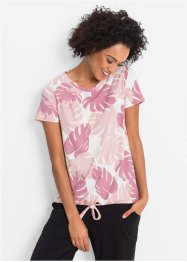 T-shirt de relaxation manches courtes, bpc bonprix collection, rose imprimé