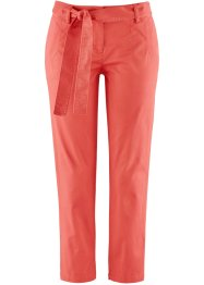 Pantalon extensible 7/8 avec lien à nouer, bpc bonprix collection, corail