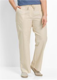 Pantalon en lin, bpc bonprix collection, beige galet