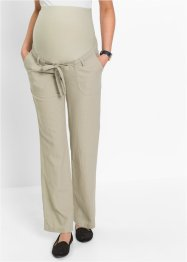 Pantalon de grossesse en lin, bpc bonprix collection, sable