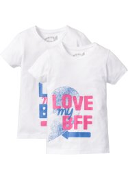 Lot de 2 T-shirts BFF, bpc bonprix collection