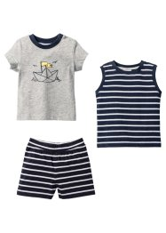 T-shirt + top + short bébé (Ens. 3 pces.) coton bio, bpc bonprix collection