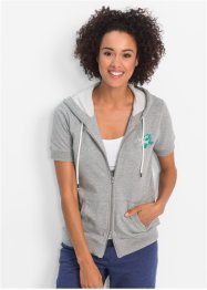 Gilet sweat-shirt à manches courtes, bpc bonprix collection