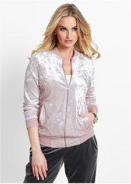 Gilet sweat en panne de velours, bpc selection